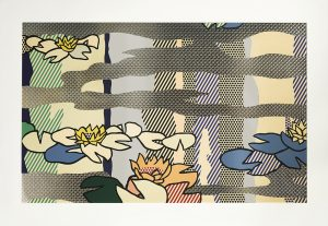 Roy Lichtenstein Screen Print, Water Lily Pond with Reflections, 1992
