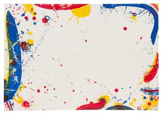 Sam Francis Lithograph, Long Blue, 1964