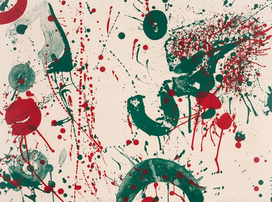 Sam Francis Lithograph, Untitled, c. 1963
