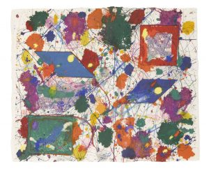 Sam Francis Monotype, Sam Francis Monotype Untitled, 1981