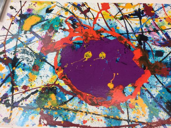 Sam Francis Monotype, Monotype Untitled, 1989