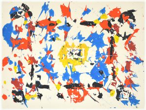Sam Francis Monotype, Untitled, c. 1980