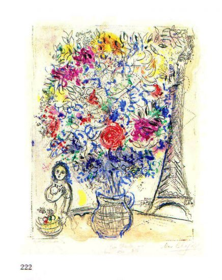 Bouquet with Eiffel tower