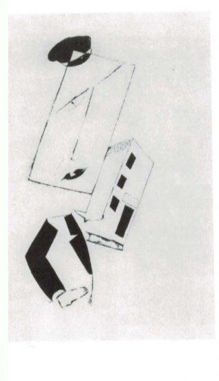 Man with rectangular head