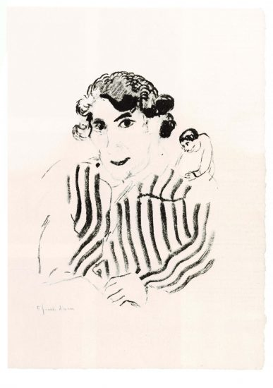 Self-portrait in striped shirt