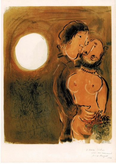 Lovers in ochre