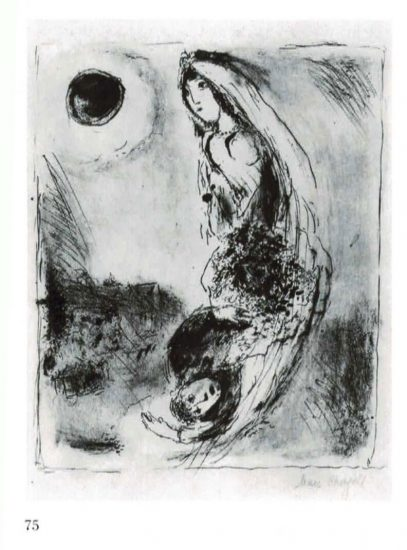 Marc Chagall, Lover's crescent, 1st state