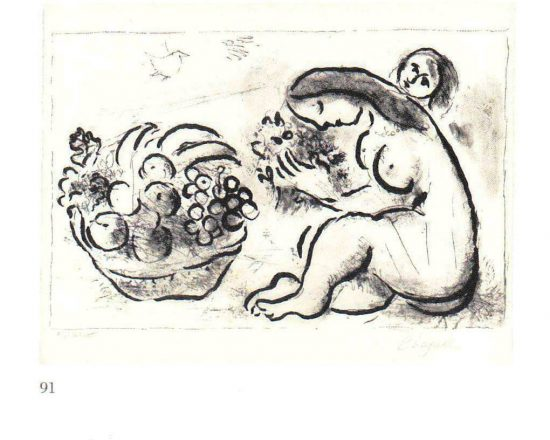 Nude with basket of fruit