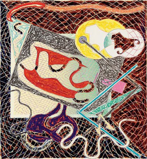 Frank Stella Lithograph, Shards III, 1982