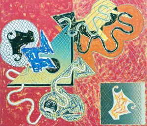 Frank Stella Lithograph, Shards IV, 1982