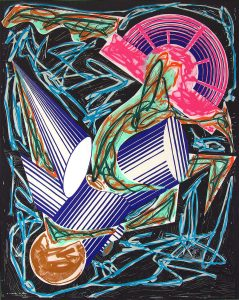 Frank Stella Lithograph, Frontispiece, from Illustrations after El Lissitzsky's Had Gadya Series, 1984
