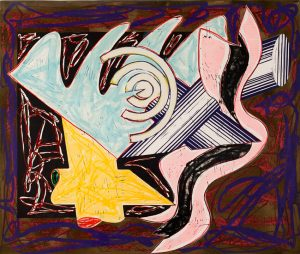 Frank Stella Lithograph, Illustrations after El Lissitzsky's Had Gadya Series: A Hungry Cat Ate Up the Goat, 1984