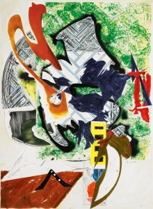 Frank Stella Screen Print, Ahab's Leg (From the Waves), 1989
