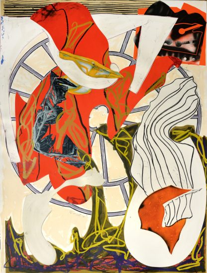 Frank Stella Lithograph, A Squeeze of the Hand (From the Waves Series), 1988