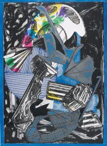 Frank Stella Etching, Guifà e la Beretta Rossa, (Guifà and the Red Cap), 1989
