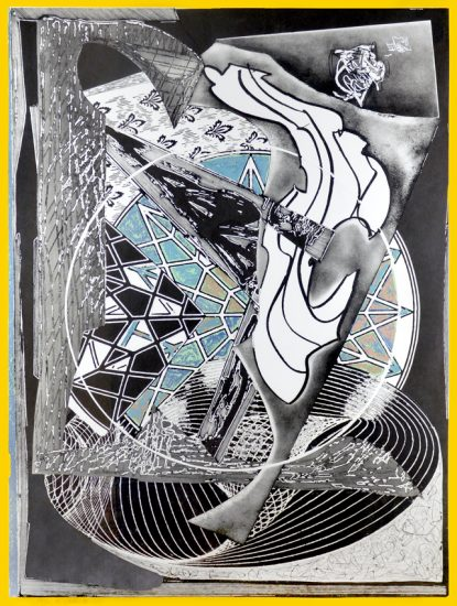Frank Stella Etching, Jonah Historically Regarded from Moby Dick Engravings, 1991