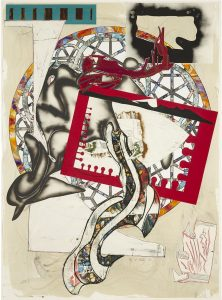 Frank Stella Silkscreen, The Pacific, 1988, from The Waves I, 1985-1989