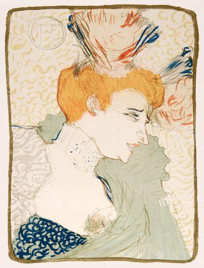 Henri de Toulouse-Lautrec Lithograph, Mademoiselle Marcelle Lender, En Buste, 1895