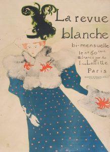 Henri de Toulouse-Lautrec Lithograph, La Revue Blanche, 1895