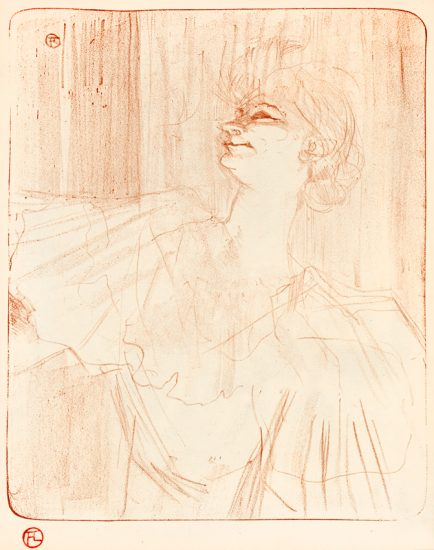 """Henri de Toulouse-Lautrec Lithograph, Yvette Guilbert, """"A Ménilmontant,"""" de Bruant, (Yvette Guilbert, 'A Ménilmontant,' by Bruant), 1898"""