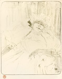 "Henri de Toulouse-Lautrec Lithograph, Yvette Guilbert, ""Chanson Ancienne'' (Yvette Guilbert, ''Old Song''), 1898"