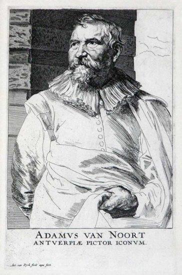 Anthony van Dyck Engraving, Adam van Noort (ca. 1680s)