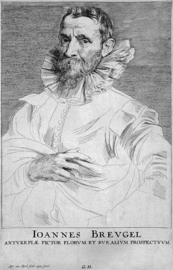 Anthony van Dyck Engraving, Joannes Breugel