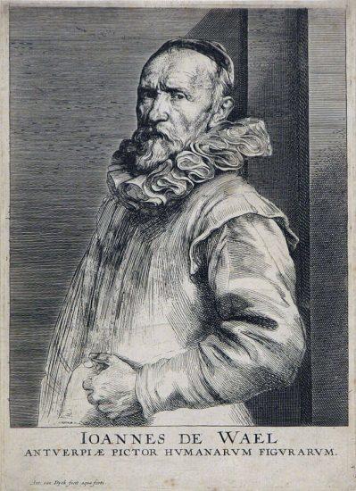 Anthony van Dyck Engraving, Joannes de Wael