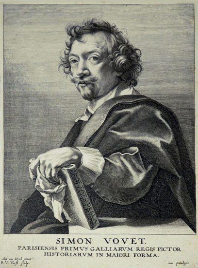 Anthony van Dyck Engraving, Simon Vouet, c. 1645
