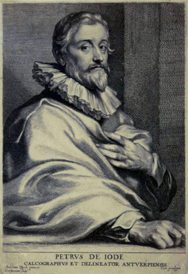 Anthony van Dyck Engraving, Petrus de Iode, c. 1645