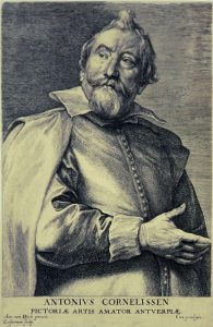 Anthony van Dyck Engraving, Antonis Cornelissen (Antoine Cornelissen), c. 1641