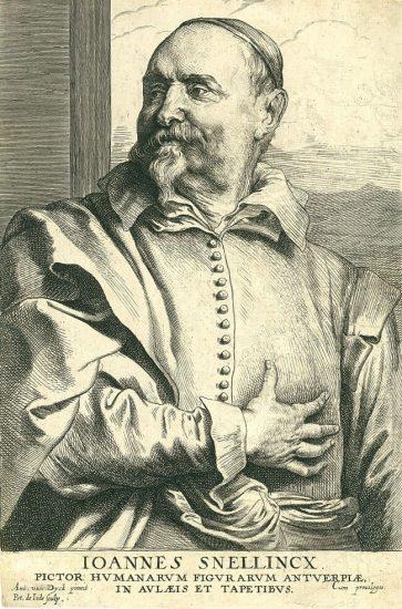 Anthony van Dyck Engraving, Joannes Snellincx (Jean Snellinx), c. 1641