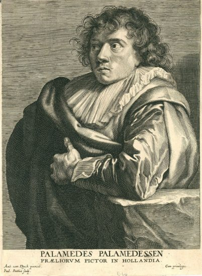 Anthony van Dyck Engraving, Palamedes Palamedesz, c. early 1700s