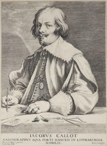 Anthony van Dyck Engraving, Jacobus Callot (Jacques Callot), c. late 1600s-early 1700s