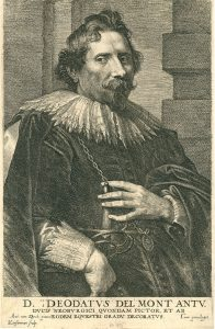 Anthony van Dyck Engraving, Deodatus Delmont (Déodat Delmont), c. early 1700s