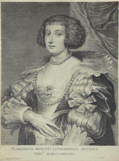 Anthony van Dyck Engraving, Margareta Princeps Lotharingia Ducissa (Marguerite de Lorraine), c. 1645