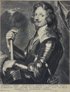 Anthony van Dyck Engraving, Thomas Francois de Savoie, Prince de Carignan (Thomas Francis, Prince of Carignano), c. 1645