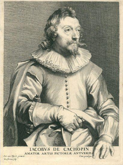Anthony van Dyck Engraving, Jacobus de Cachopin (Jacques de Cachiopin), c. 1645-1650