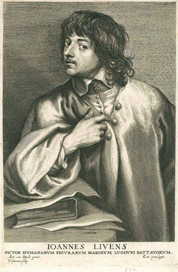 Anthony van Dyck Engraving, Joannes Livens (Jean Lievens), c. 1700