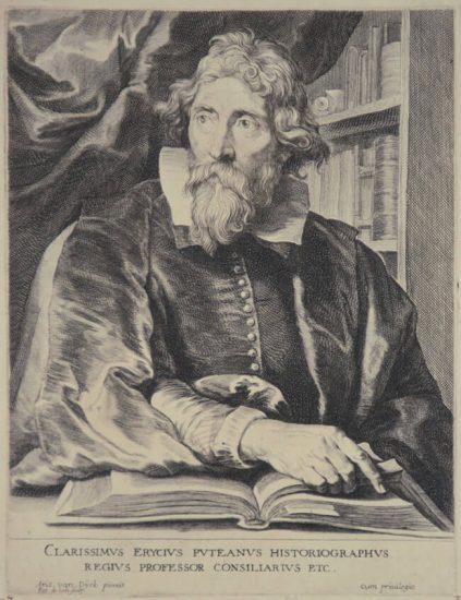 Anthony van Dyck Engraving, Eerryk De Putte dit Erycius Puteanus, c. 1675