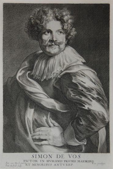 Anthony van Dyck Engraving, Simon de Vos, c. 1641