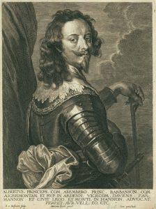 Anthony van Dyck Engraving, Albert de Ligne Arenberg, c. early 1700s