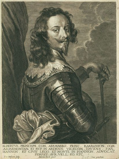 Anthony van Dyck Engraving, Albert de Ligne Arenberg, c. early 1700s