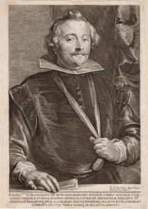 Anthony van Dyck Engraving, Francisco de Moncada, c. 1641