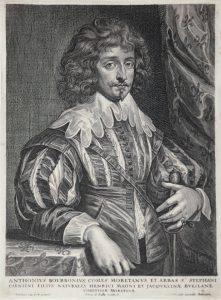 Anthony van Dyck Engraving, Antonius Bourbonius (Antoine de Bourbon), c. 1645