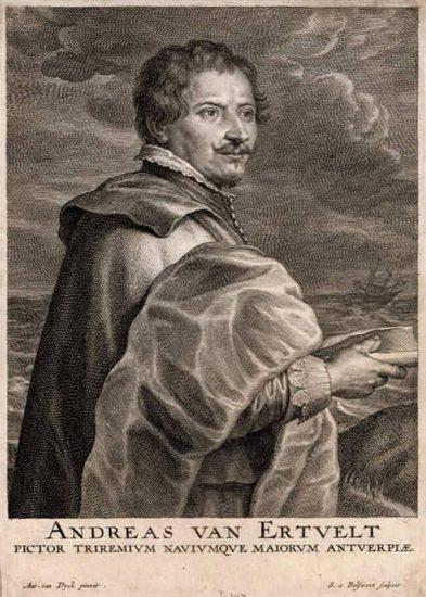 Anthony van Dyck Engraving, Andreas Van Ertvelt (Andre Van Eertvelt)