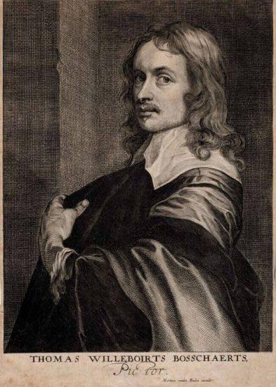 Anthony van Dyck Engraving, Thomas Willeborts Bosschaert, c. 1645
