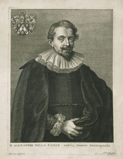 Anthony van Dyck Engraving, Alexander Della Faille, c. early 1700s