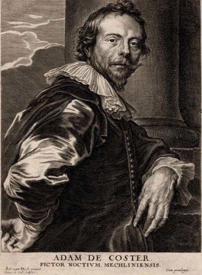 Anthony van Dyck Lithograph, Adam de Coster, c. 1685