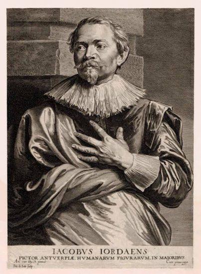 Anthony van Dyck Engraving, Jacobus Jordaens (Jacques Jordaens) c. 1675 - 1685